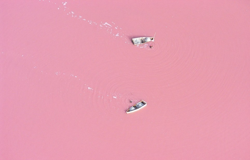 Lago Retba, Senegal.