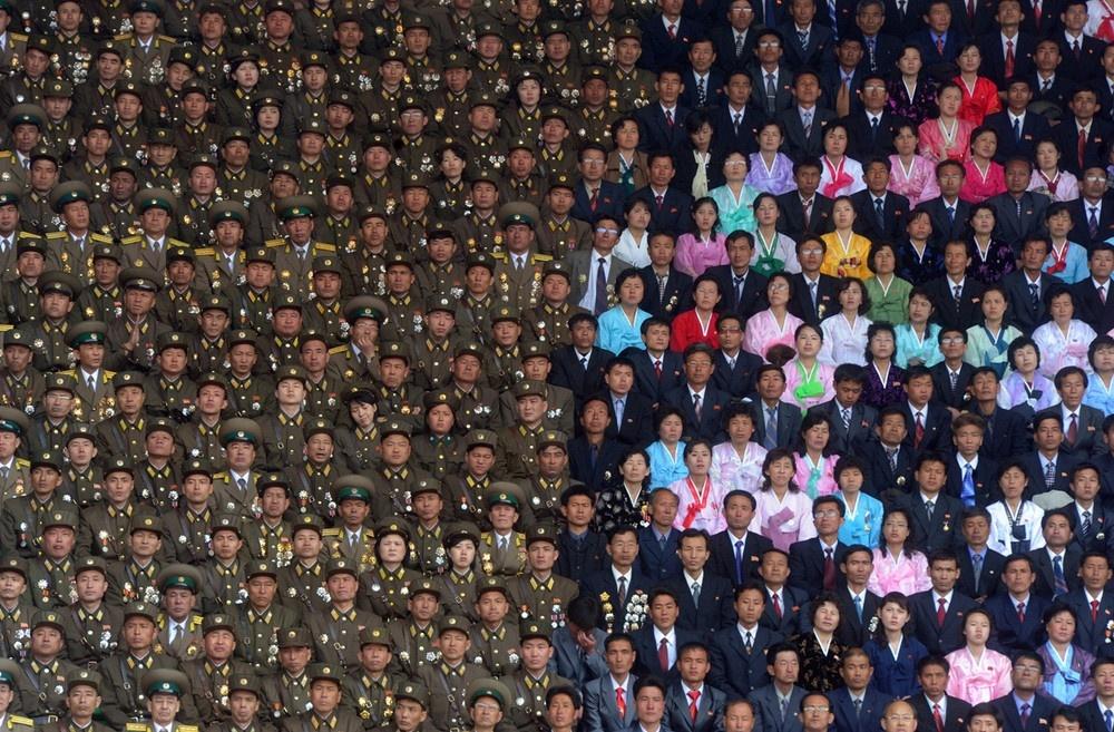 Celebrando el natalicio número 100 de Kim Il-sung, fundador de Corea del Norte.