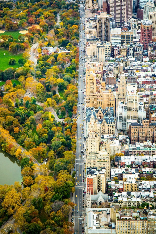 Manhattan dividida en dos.