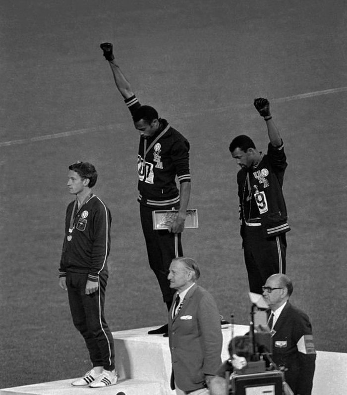 poder negro en olimpiadas 1968