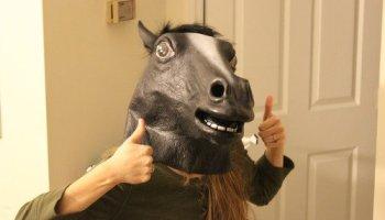 Halloween, cabezas de animales