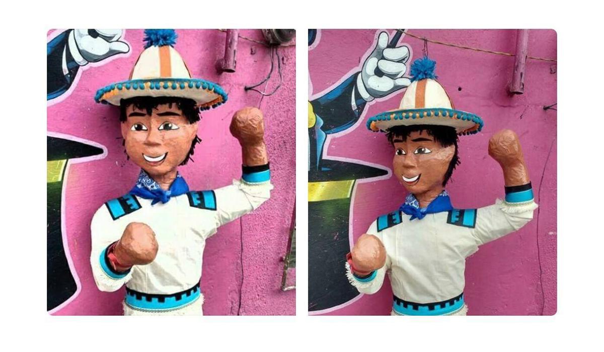 Piñata niño Movimiento Naranja