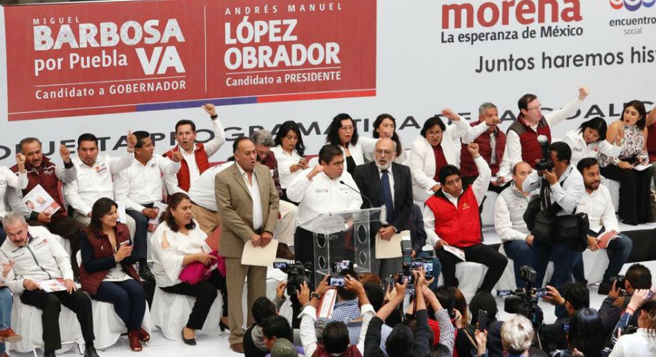 inicio de campaña, Miguel Barbosa